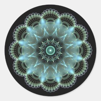 Mandala del fractal pegatina redonda