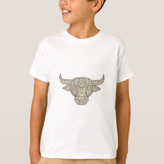 Mandala del frente de la cabeza de la vaca de Bull Camiseta