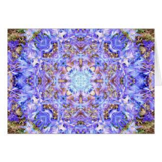 Mandala del jacinto tarjeta de felicitación