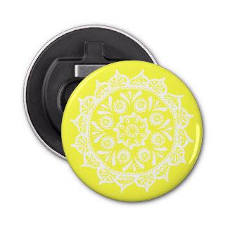 Mandala del limón abrebotellas redondo