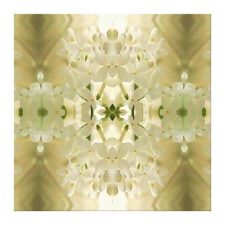 """""""Mandala del ramo del flor"""" Impresión En Lienzo"""