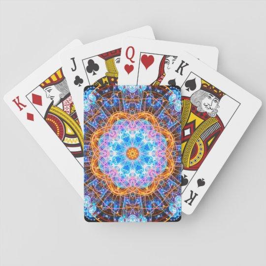 Mandala del reactor de la energía barajas de cartas