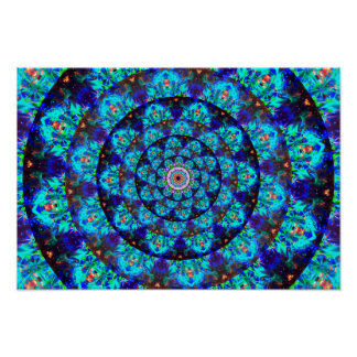 Mandala del túnel de la energía póster