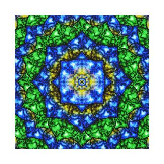 Mandala eléctrica de Lotus Impresión En Lienzo