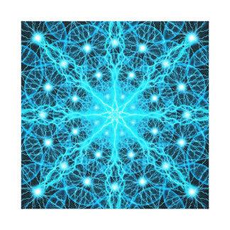 Mandala eléctrica del universo impresión en lienzo