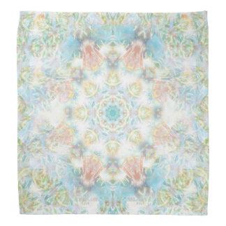 Mandala en colores pastel de la flor bandanas
