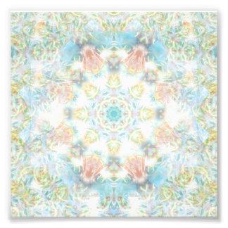 Mandala en colores pastel de la flor foto
