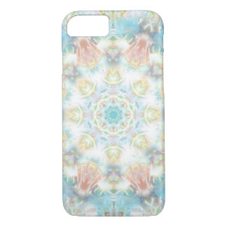 Mandala en colores pastel de la flor funda iPhone 7
