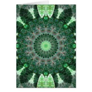 Mandala esmeralda de la tortuga tarjeta de felicitación