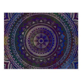 Mandala espiritual postal