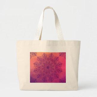 Mandala feliz bolsa de tela grande