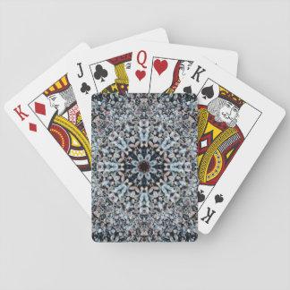 Mandala Flor-Formada de los guijarros Baraja De Cartas