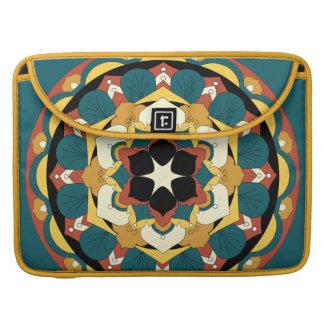 Mandala floral coloreada 060517_4 funda para macbook pro