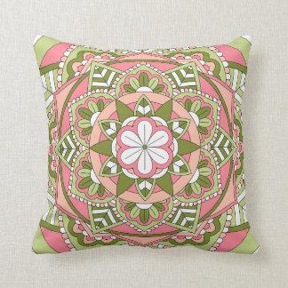 Mandala floral coloreada 061117_1 cojín decorativo