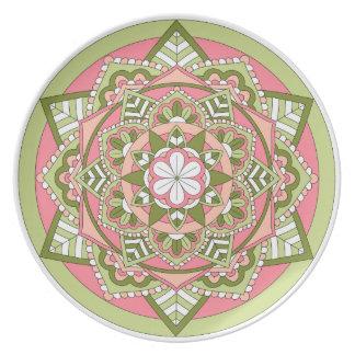 Mandala floral coloreada 061117_1 plato