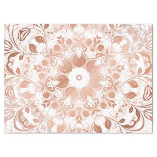 Mandala floral del oro color de rosa papel de seda