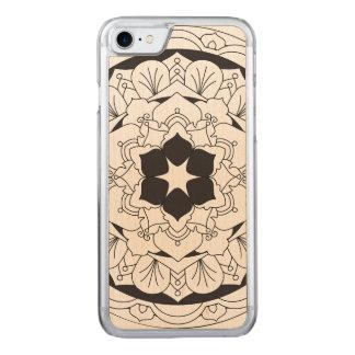 Mandala floral resumida 060517_4 funda para iPhone 7 de carved