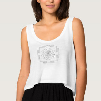 Mandala geométrica negra camiseta con tirantes