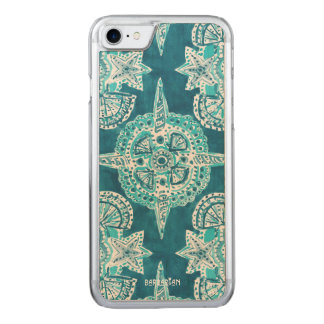 Mandala INTERNA de Shell de la playa de la Funda Para iPhone 8/7 De Carved
