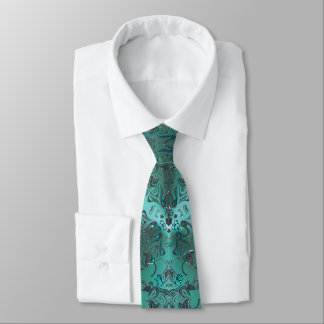Mandala Jeweled verde elegante de la mirada Corbatas Personalizadas