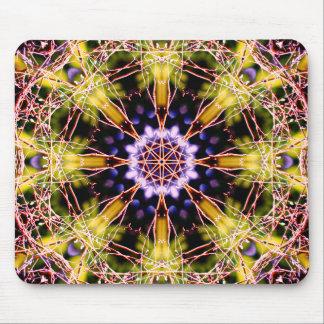 Mandala natural del átomo alfombrilla de ratón