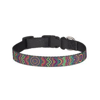 Mandala oval psicodélica collar para mascotas