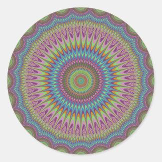 Mandala psicodélica pegatina redonda