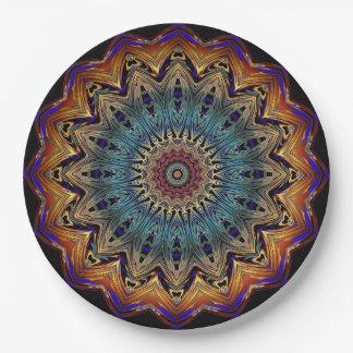 Mandala real plato de papel