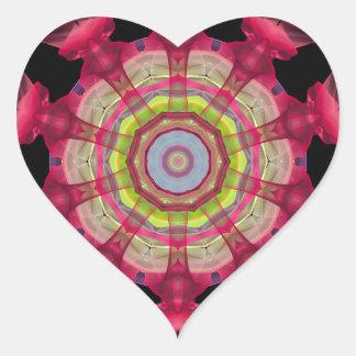 Mandala roja del pistón para el garaje pegatina en forma de corazón