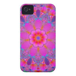 Mandala rosada de la flor Case-Mate iPhone 4 coberturas