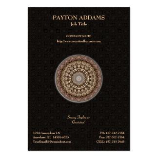Mandala teñida té • Tarjeta de visita vertical