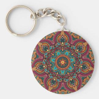 """Mandala Trippy 2,25"""" llavero básico del botón"""