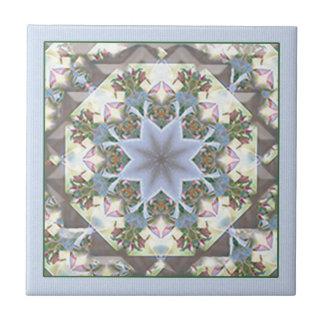 Mandala Trivet/teja de la estrella Azulejo Cuadrado Pequeño