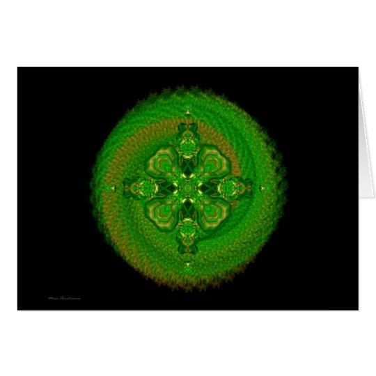 Mandala verde de Tara Tarjeta