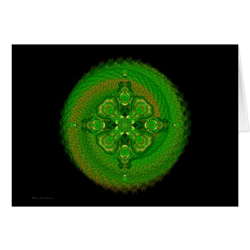 Mandala verde de Tara Tarjeta De Felicitación