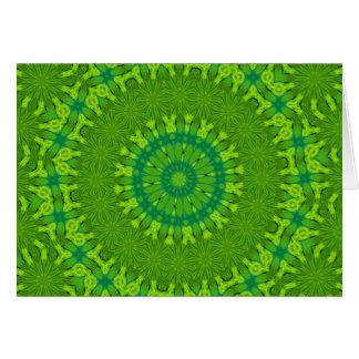 Mandala verde del safari, tarjeta de nota