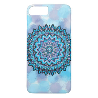Mandala violeta azul funda iPhone 7 plus
