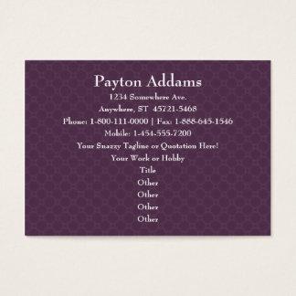 Mandala violeta de los pétalos - tarjeta de visita