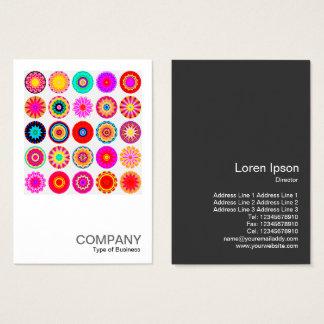Mandalas coloridas cuadradas de la foto 091 - 25 tarjeta de visita