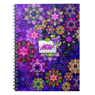 Mandalas de estallido vibrantes de la acuarela cuaderno