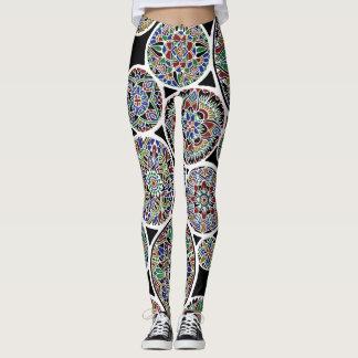 Mandalas reales invertidas leggings