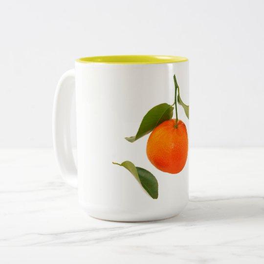 mandarina taza de café de dos colores
