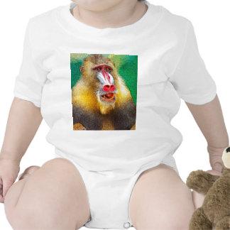 Mandrill, versión pintada traje de bebé