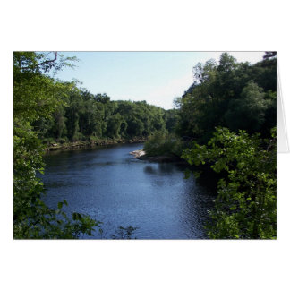 Manera abajo sobre el río Notecard de Suwannee Tarjeta
