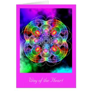 Manera del corazón tarjeta