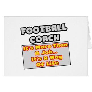 Manera del entrenador de fútbol… de vida tarjeta de felicitación