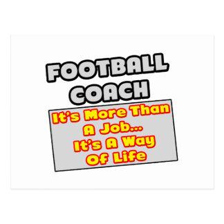 Manera del entrenador de fútbol… de vida tarjeta postal