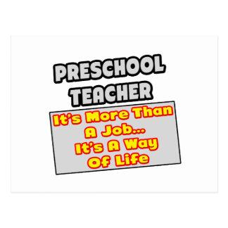 Manera preescolar del profesor… de vida postal