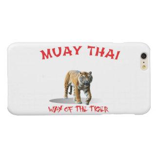Manera tailandesa de Muay del iPhone del tigre