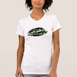 Manga casquillo caliente del AA de las señoras de Camiseta